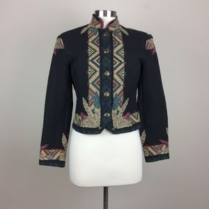 🇺🇸Wraps western cropped tapestry jacket